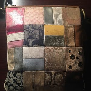 Authentic patchwork Coach bag